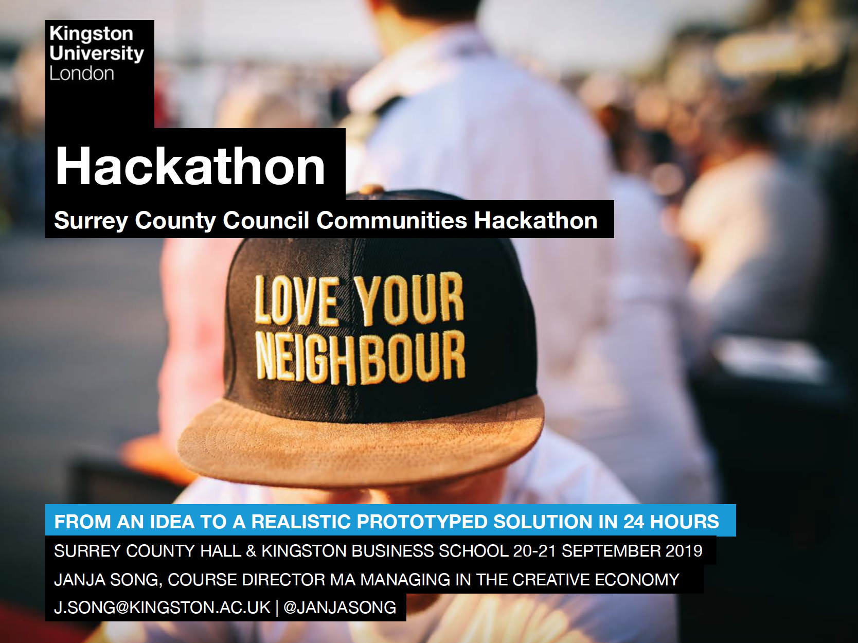 Photos from the MA Creative Economy Hackathon, Welcome Week 2019